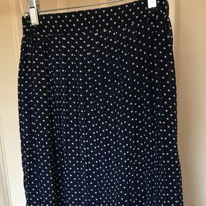 polka dotted high-low skirt